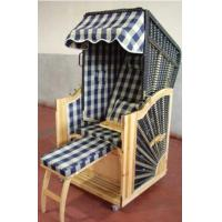 Quality Outdoor Beach Yellow Roofed Wicker Beach Chair & Strandkorb , UV Resistant for sale