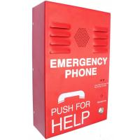 Red Auto Dial Emergency Push Button Telephones , Caller ID SOS Phone