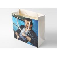 China Kraft Paper Coloured Paper Bags With Glossy Lamination , White Personalised Paper Bags on sale