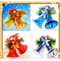 China Metal crafts Christmas tree decoration smooth clock/little golden bell bell hang piece/plastic horn on sale
