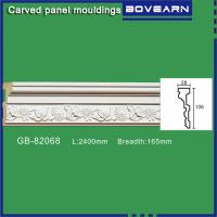 Buy Polyurethane Carved Panel Mouldings/ Chair rails/ white primed color customized at wholesale prices