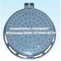 Quality Ductile iron manhole cover cast iton square and round EN124 manhole cover and frame for sale