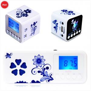 China Multifunction Retro mini FM clock radio with micro sd card on sale