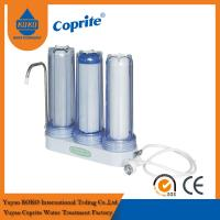 Quality Triple Filtration Three Stage Countertop Household Water Filter PP Activated Carbon for sale