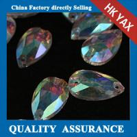 Quality Non hotfix sew-on strass teardrop colored sew on strass stones glue on strass crystals for sale