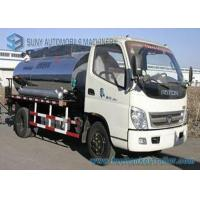 Quality Foton 2000 L - 4000 L Small Bitumen Asphalt distribution truck 95hp for sale