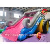 Quality Kids Commercial Grade Inflatable Water Slide With Pool 0.5mm PVC Material for sale