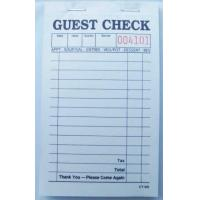 Buy cheap CT-101 guest checks  2parts white booked ISO Certificate from  TIMIpaper for restaurant fast selling in US MARKET from Wholesalers
