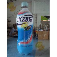 Quality Logo Printed Branded Inflatable Bottle , Nylon Custom Inflatable Balloons for sale