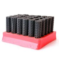 Quality Red Color Diamond Abrasive Brush Wear Resistance , High Efficiency Nylon Filament Brush for sale