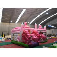 China Pink Dinosaur Girl Blow Up Houses For Birthday Parties / Jumping Castle House on sale