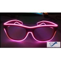 China Shining Plastic El Wire Glasses Colorful Frames For Christmas Festival Party on sale