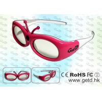 Quality Small Size 3D Digital Cinema Shutter Glasses with Micro USB rechargeable Battery for sale