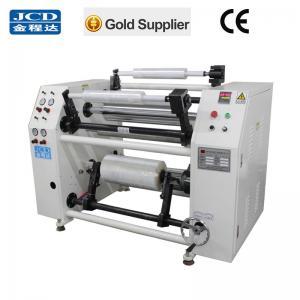 Quality semi-maunal PE protective film/ stretch film cutting rewinding machine factory, for sale