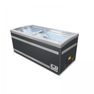 Quality Supermarket Refrigeration Equipment Frozen Food Glass Door Chest Island Fridge Freezer for sale