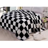 Big Size Coral Fleece Bed Sets Cover With Grid Printed Life