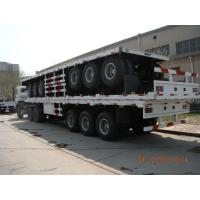 Quality 40ft Three Alxes Heavy Duty Semi Trailers Flatbed Truck With 14mm Upper Thickness for sale