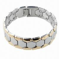 Quality Bracelet with Magnet, Can be Made of Stainless Steel or Titanium for sale