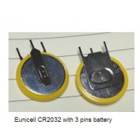China CR2032 with pcb pins 3V 210mah with ROHS CE TUV SGS  lithium button battery on sale