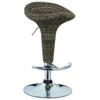 Quality Contemporary French Bistro Bar Stools Rattan Bar Chairs 385 * 1.2mm Base for sale