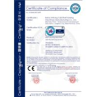 BOTOU SHITONG COLD ROLL FORMING MACHINERY MANUFACTURING CO.,LTD Certifications