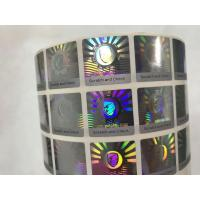 China Anti Counterfeit 3D Holographic Stickers , Hologram Seal Stickers With Scratch Off Layer on sale