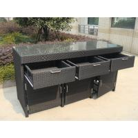 Quality Aluminum Frame And Resin Wicker Bar Set Bar Table For Indoor for sale