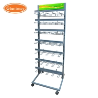 China Movable 35 Hanging Hooks Giantmay Car Battery Stand on sale