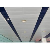 Buy cheap Indoor Decoration Aluminum Suspended Strip Ceiling Panel Beveled Edge Eco from wholesalers