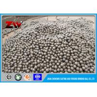 Quality 40mm 60Mn steel rolling steel balls , Ball Mill forged steel grinding balls for sale