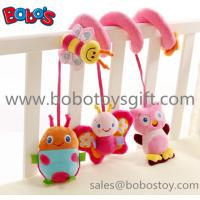 China Cute Pink Animal Style Plush Baby Bed Hanging Toys with music box In High Quanlity on sale