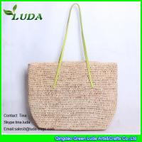 Quality Natural Hand Crochet Raffia Straw Bag for sale