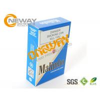 Quality Luxury Paper Disposable Cigarette Paper Box Various Sizes For Gift / Supermarket for sale