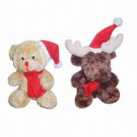 Quality Plush Toys, Bear and Reindeer for Christmas for sale