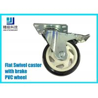 Quality 3-5 inch PVC / ESD Flat Free Swivel Caster Wheels Plate - mount With Brake Assembly for sale