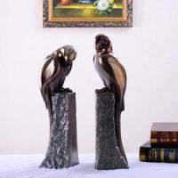 Quality Bookends with lovely Birds, horses and other ornaments coated in bronze, brass that can be oxidized / green bronze for sale