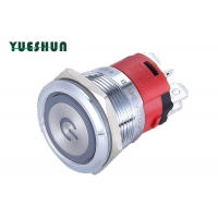 Quality Angle Eyes Symbol LED Light 18A 22mm Latching Push Button Switch for sale