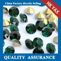 Quality Hot Selling Emerald Point Back Rhinestone Strass For Earrings,Rhinestone Strass Back Pointed for sale