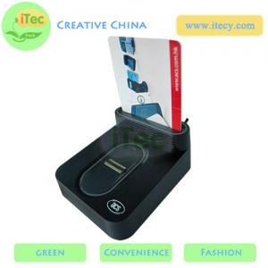 Quality ID Smart card reader with fingerprint sensor with Sam slot  USB fingerprint payment reader for sale