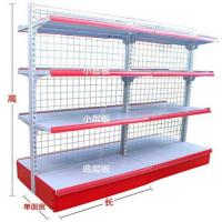 Quality Double Sided Wire Mesh Panel Store Shelf / White Storage Baskets SGS ISO for sale