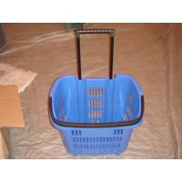 Quality New Virgin HDPP Plastic Folding Storage Trolley Basket with Movable Wheels for sale