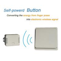 Quality Battery-free Wireless Wall Switch Remote Control Light Switch Waterproof IPX7 No Battery No Wire for sale