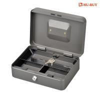 Quality Three Cell Metal Cash Box With Lock Coin Storage Money Safe Wear Resistance for sale