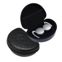 Quality Foldable Headphone Protective Case , Black EVA Foam Earbud Carrying Case for sale