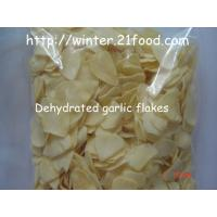 Quality dried garlic flakes without root for sale