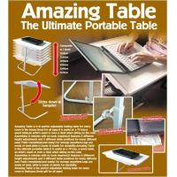 China Plastic Ultimate Portable Table Adjustable Customized Color For Office Desks on sale