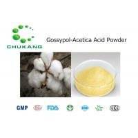 Quality Cotton Seed Extract Organic Herbal Gossypol-Acetica Acid CAS 12542 36 8 for sale