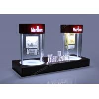 China Acrylic LED Magnetic Floating Displays Tobacco Rotating Pop Display on sale