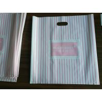 Quality Customizable Plastic Shopping Bag / Plastic Merchandise Bags With Die Cut Handles for sale