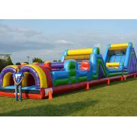 Quality 0.55mm PVC Kids Backyard Inflatable Obstacle Course For Challenging for sale
